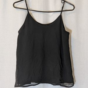 3 For $15 Textured Black Lined Camisole Tank Sz S